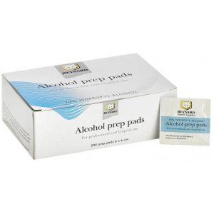 Reynard Prep Pads 70% Isopropyl Alcohol Mini Swabs Wipes, 1 Carton - 25