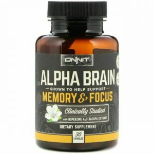 Onnit Alpha Brain, Help Support Memory and Focus, 30 Caps