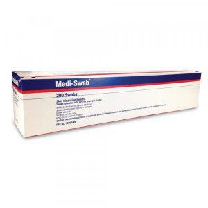 Medi-Swab 70% Isopropyl Alcohol Skin Cleasing, 200 Swabs