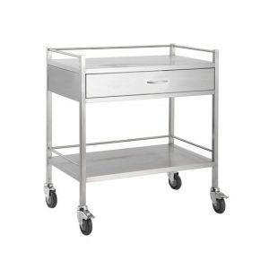 High grade 304 stainless steel throughout • Soft closing magnetic drawers • German made ball bearing drawer runners • 125mm deep drawers • 95 mm smooth rolling castors for easy movability • Locks on front castors • 125mm deep drawers • Top and bottom side rails on all three sides • Double safety folds • Smooth welding
