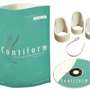 Contiform provides a discreet and affordable solution for overcoming stress incontinence (bladder leakage with cough, sneeze or impact exercise). Contiform New User Kit is designed for women starting out and includes everything you need to use immediately.