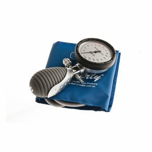 Aneroid One Handed Medical Sphygmomanometer, Blue