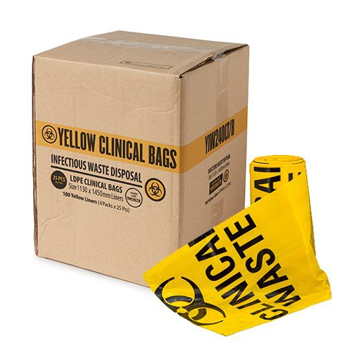 Yellow clinic waste bag